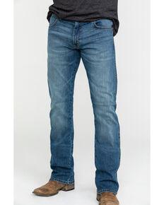 Wrangler Retro Men's Weston Stretch Slim Bootcut Jeans , Blue, hi-res