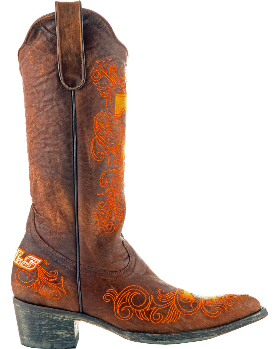 Gameday Boots Women's University of Tennessee Western Boots - Pointed Toe, Brass, hi-res