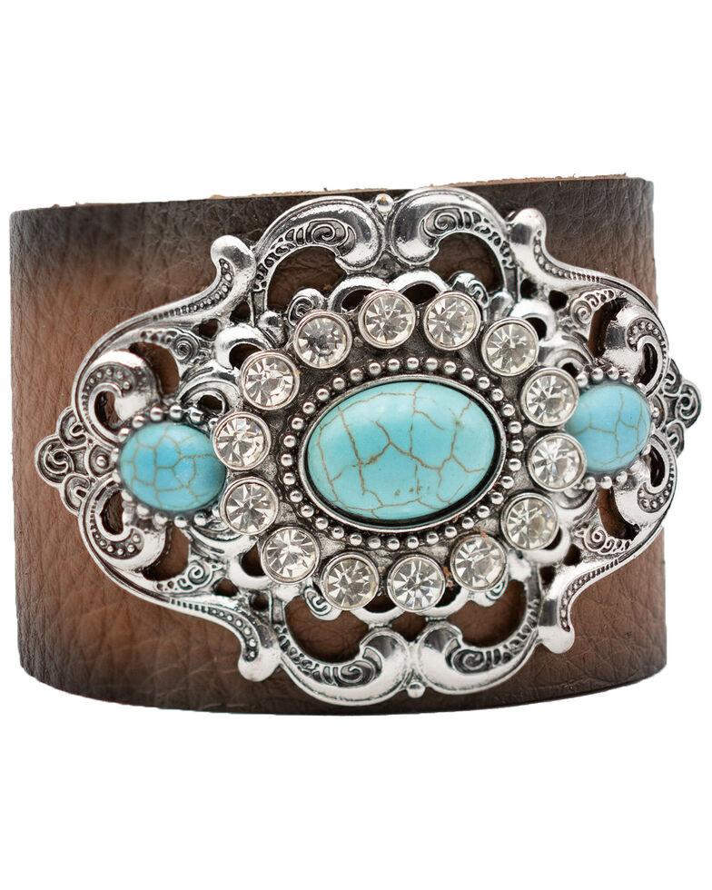 Cowgirl Confetti Women's Timeless Allure Cuff Bracelet, Silver, hi-res
