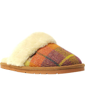 Lamo Footwear Women's Wembley Scuff Slippers , Tan, hi-res