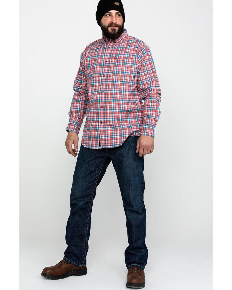 Ariat Men's FR Hunter Classic Plaid Long Sleeve Work Shirt - Tall , Bark, hi-res