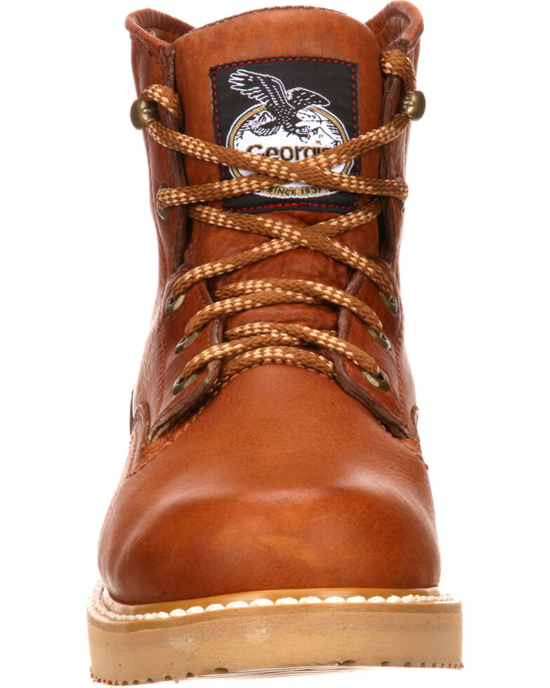 Georgia Men's Wedge Work Boots, Gold, hi-res