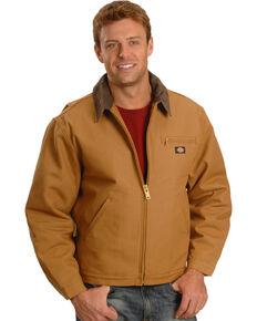 Dickies Men's Blanket Lined Duck Work Jacket - Big & Tall, Brown Duck, hi-res