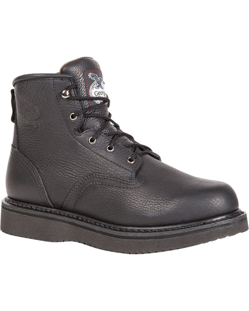 """Georgia Men's 6"""" Lace-Up Wedge Work Boots, , hi-res"""