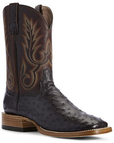 Ariat Men's Barker Western Boots - Wide Square Toe, Brown, hi-res