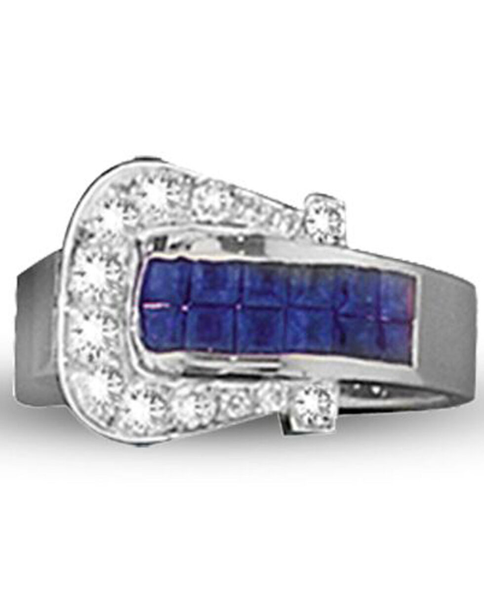 Kelly Herd Women's Blue Buckle Ring , Blue, hi-res