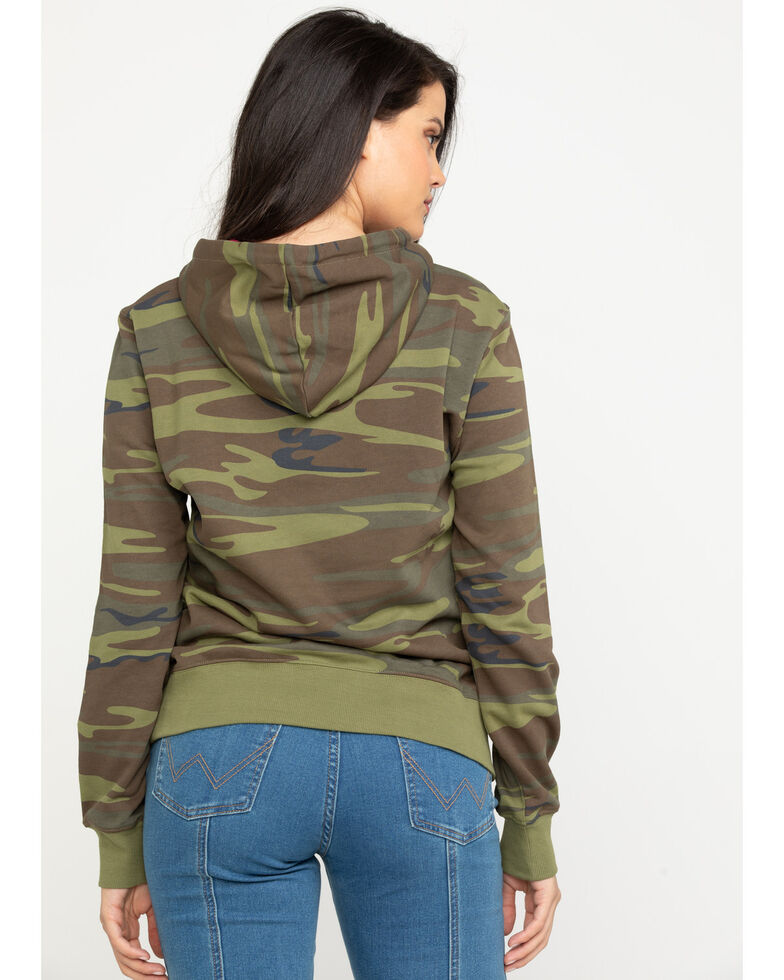 HOOey Women's Camo Chief Graphic Hoodie, Camouflage, hi-res