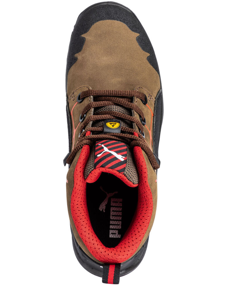 Puma Women's Krypton Lace-Up Work Boots - Steel Toe, Brown, hi-res