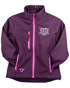 Cowgirl Hardware Girls' Wild & Free Softshell Jacket, Purple, hi-res