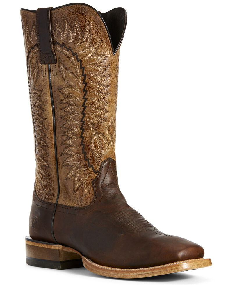 Ariat Men's Elite Rich Clay Western Boots - Wide Square Toe, Tan, hi-res
