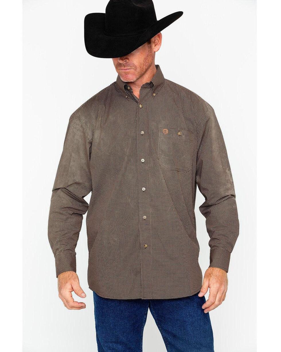 George Strait by Wrangler Men's Tan Long Sleeve Western Shirt , Tan, hi-res