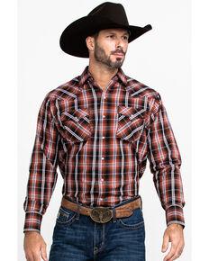 Ely Cattleman Men's Multi Textured Snap Plaid Long Sleeve Western Shirt , Multi, hi-res