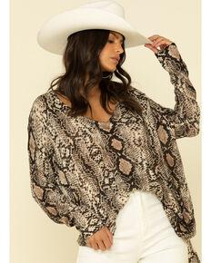 Show Me Your Mumu Women's Snake Print Hug Me Sweater , Multi, hi-res