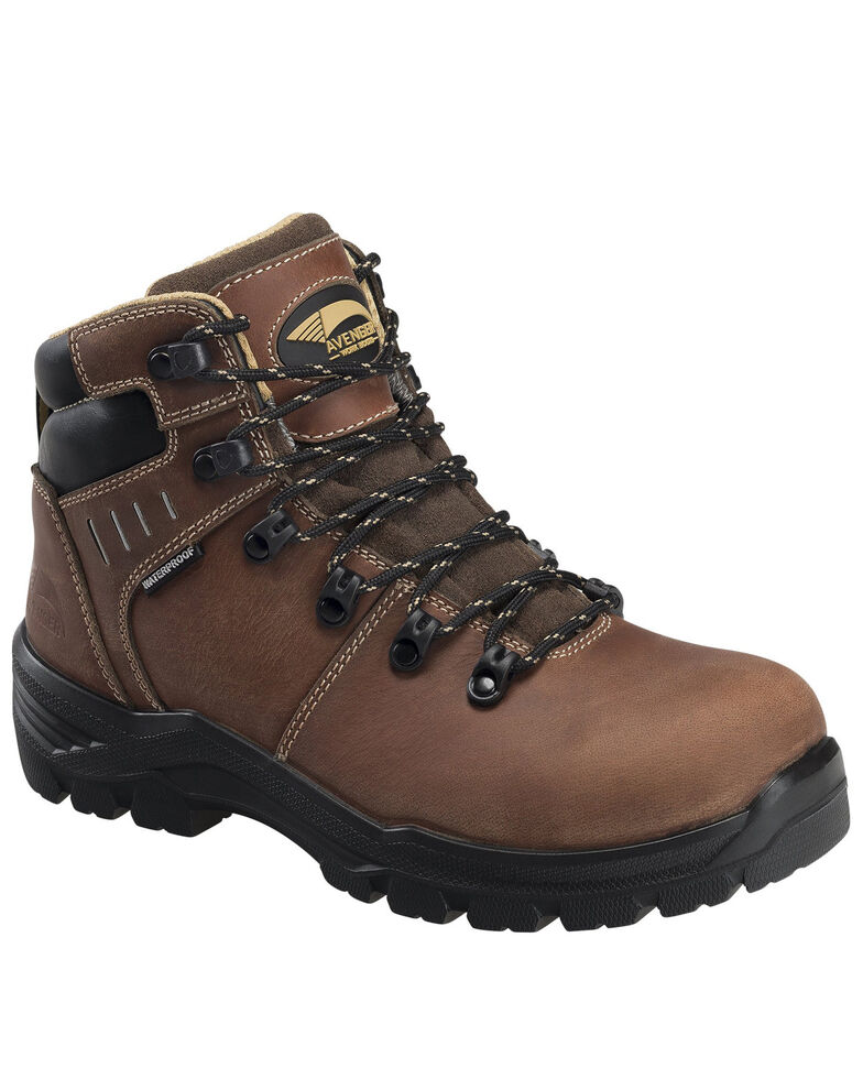 Avenger Women's Foundations Waterproof Work Boots - Composite Toe, Brown, hi-res
