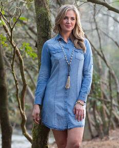 Ryan Michael Women's Indigo Sawtooth Dress , Indigo, hi-res