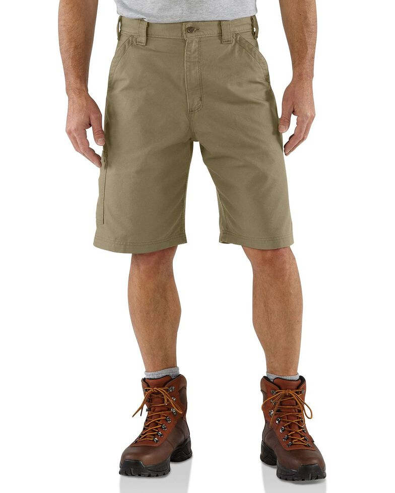 Carhartt Men's Canvas Carpenter Work Shorts, Khaki, hi-res