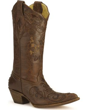 Corral Women's Lizard Inlay Exotic Boots, , hi-res