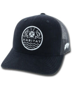 HOOey Men's Black Element Habitat Patch Ball Cap , Black, hi-res