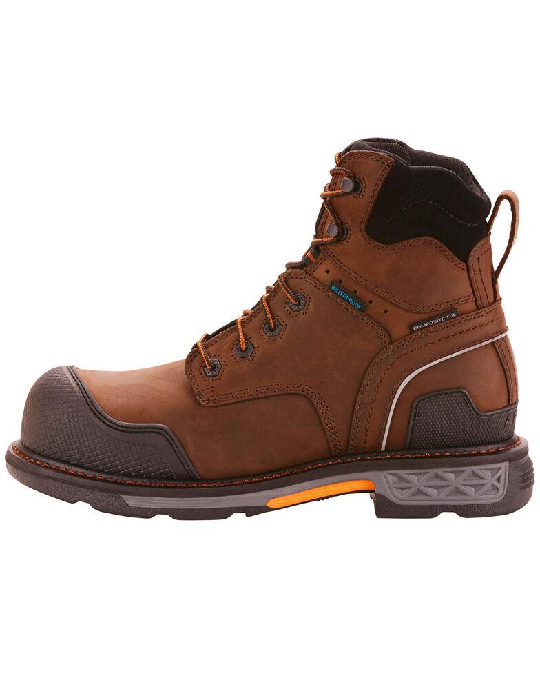 """Ariat Men's OverDrive XTR 6"""" Waterproof Work Boots - Composite Toe , Brown, hi-res"""