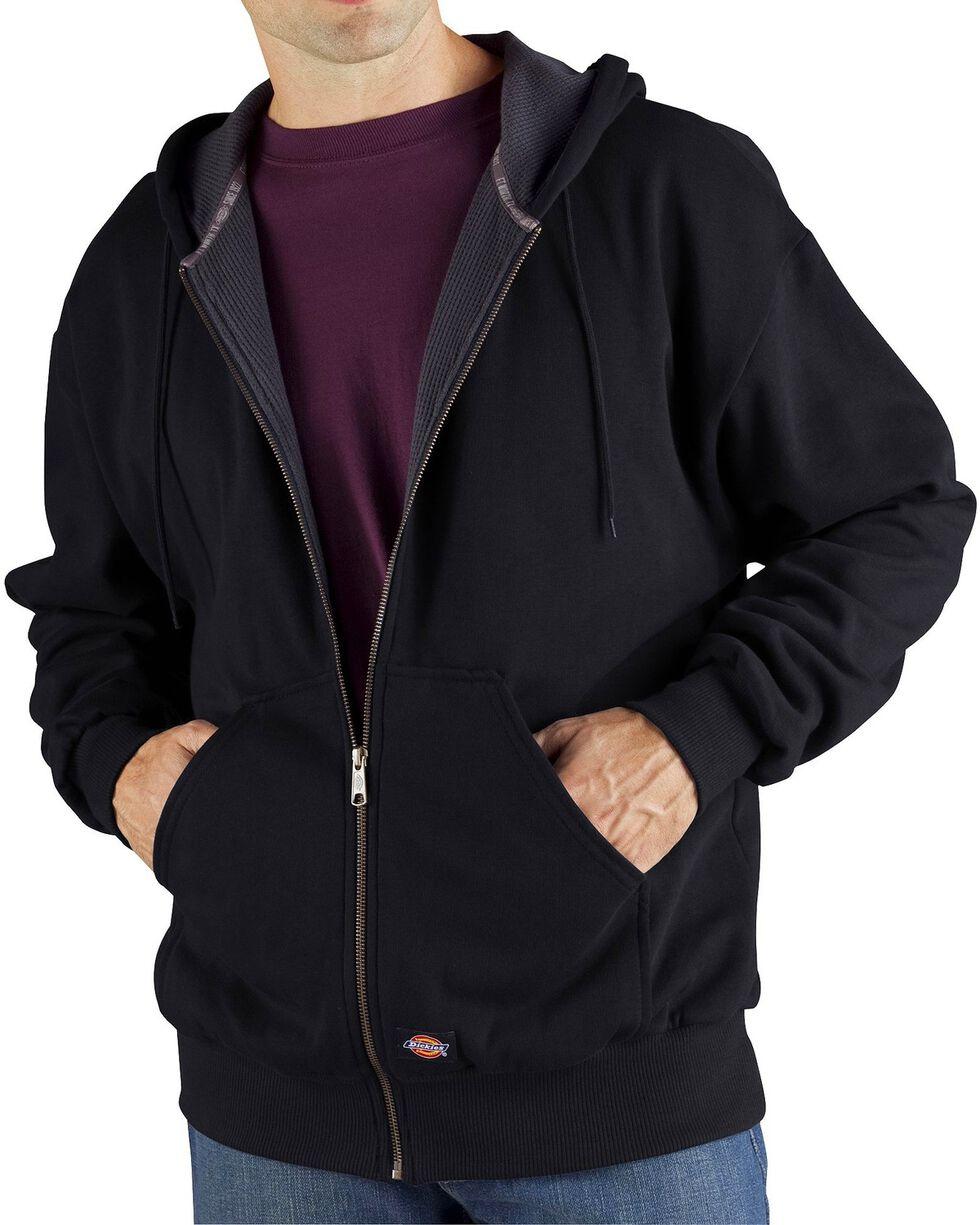 Dickie's Men's Thermal Lined Fleece Hoodie, Black, hi-res