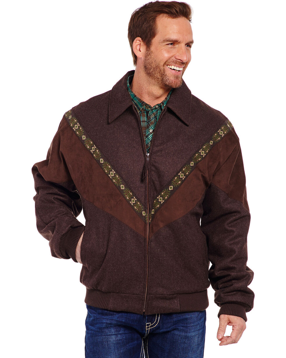 Cripple Creek Men's Wool Melton Jacket, Chocolate, hi-res