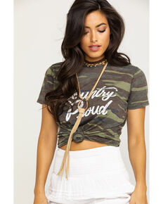 White Crow Women's Camo Country Proud Graphic Tee, Camouflage, hi-res
