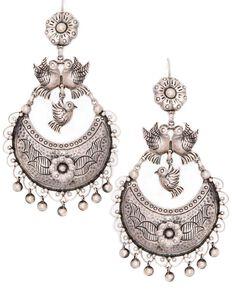 Double D Ranchwear Women's De Vargas Earrings, Silver, hi-res