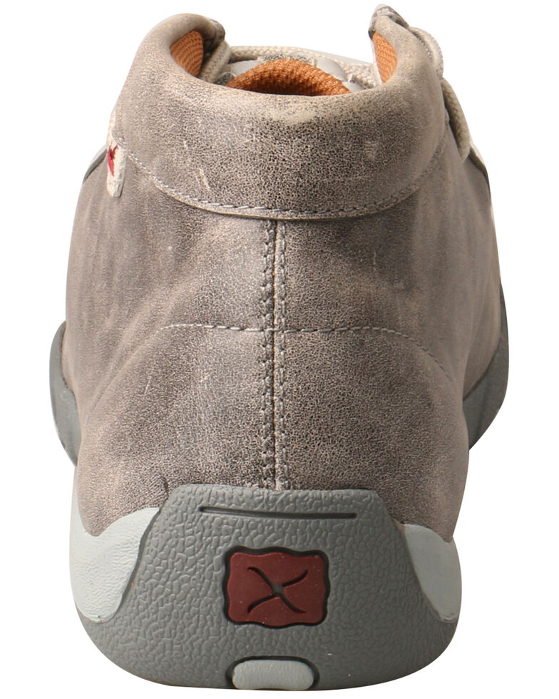 Twisted X Men's Woven Driving Moccasin Shoes - Moc Toe, Grey, hi-res