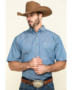 Ariat Men's Rossmoor Geo Print Short Sleeve Western Shirt , Multi, hi-res