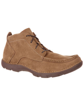 Rocky Men's Cruiser Casual Western Chukka Shoes - Moc Toe, Brown, hi-res