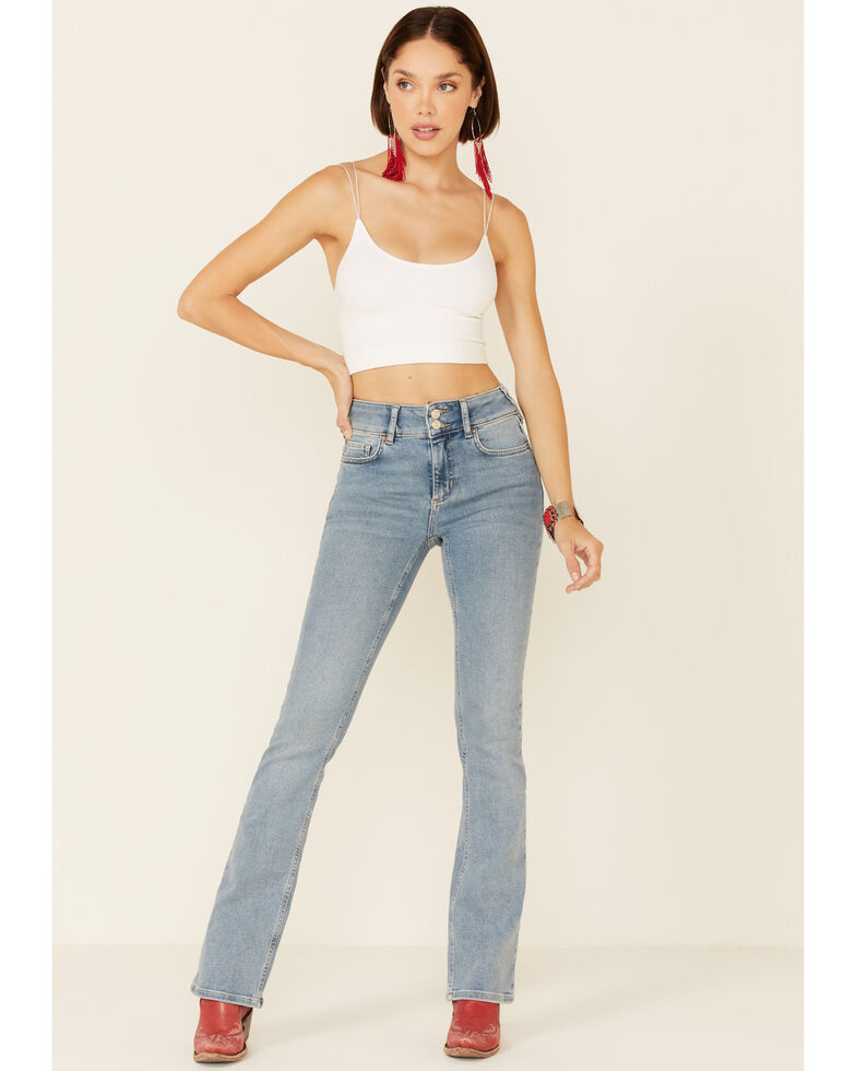 Free People Women's Shayla Bootcut Jeans, Blue, hi-res