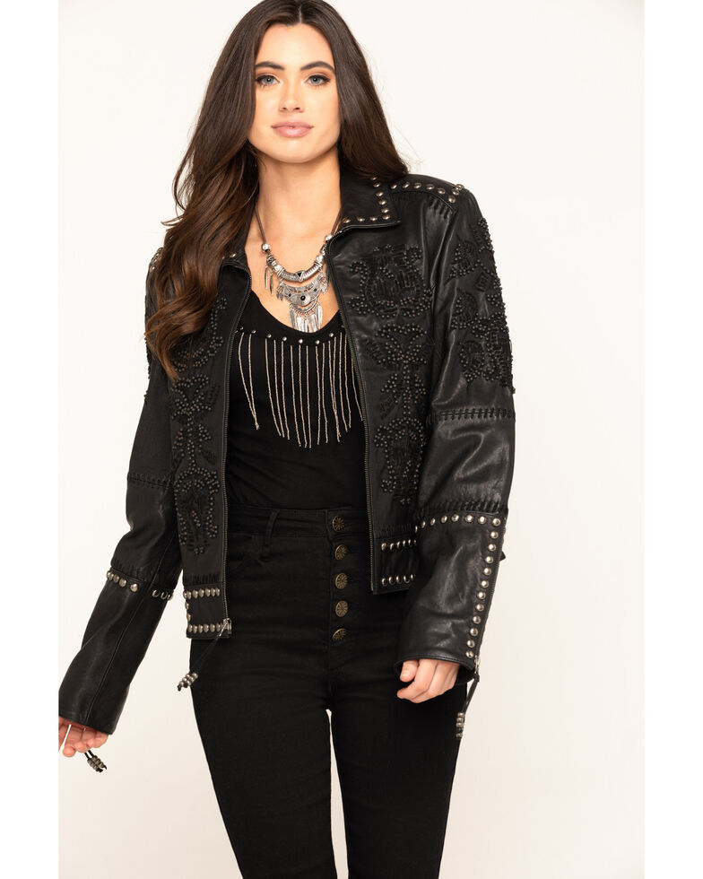 Double D Ranchwear Women's Tasajulillo Jacket , Black, hi-res