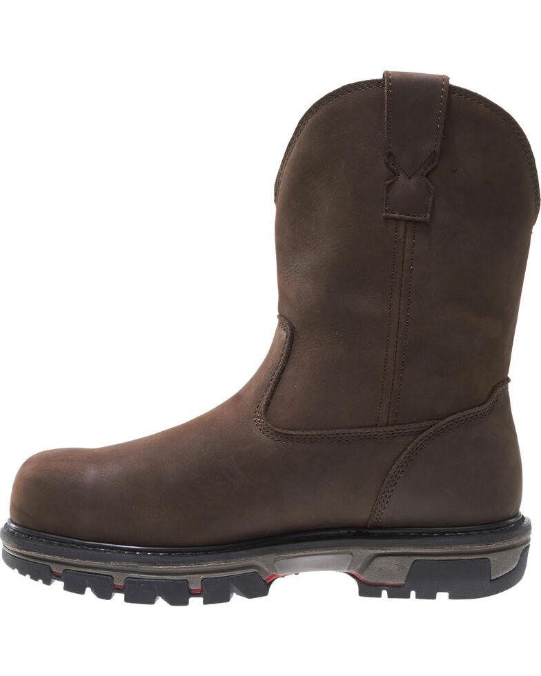 Wolverine Men's Nation DuraShocks Wellington Work Boots - Composite Toe, Brown, hi-res
