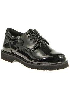 Bates Women's High Gloss Duty Oxford Shoes, Black, hi-res