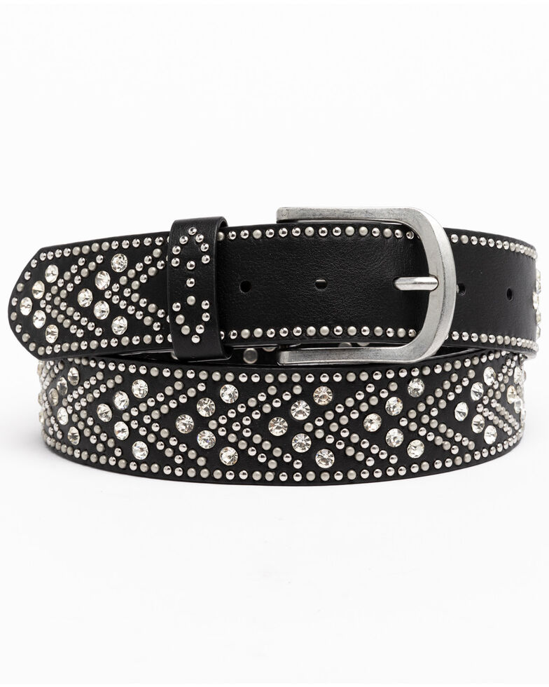 Shyanne Women's Black Tempt To Shine Belt, Black, hi-res