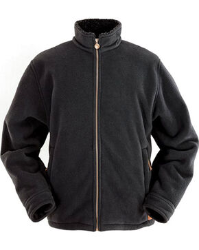 Outback Trading Co. Men's Charcoal Summit Fleece Jacket , Charcoal, hi-res