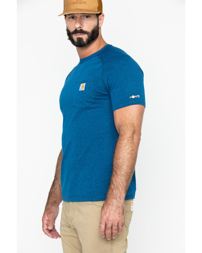 Carhartt Men's Short Sleeve Force T-Shirt, Navy, hi-res