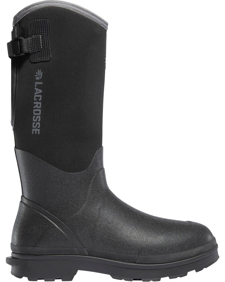 "LaCrosse Men's Black 14"" Alpha Range Utility Boots - Round Toe, Black, hi-res"