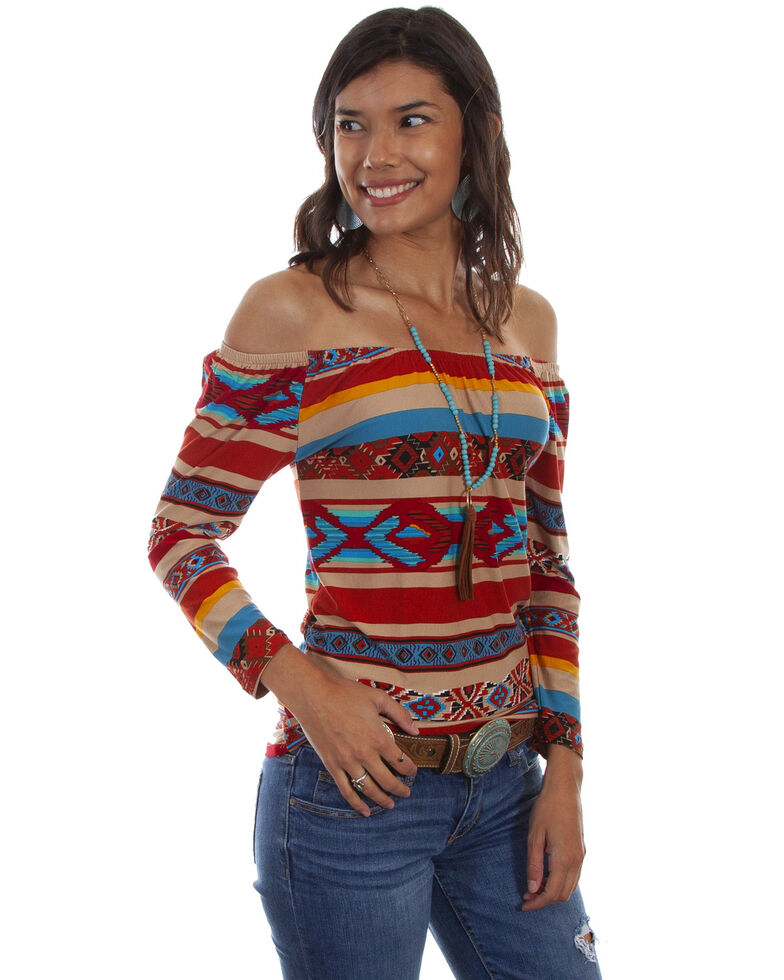 Honey Creek by Scully Women's Serape Ballet Top, Multi, hi-res