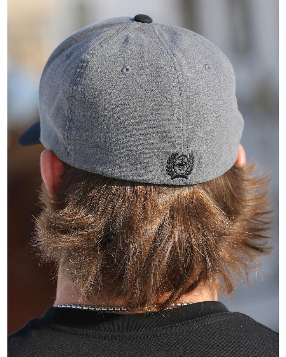 Cinch Men's Grey Flexfit Baseball Cap , Grey, hi-res