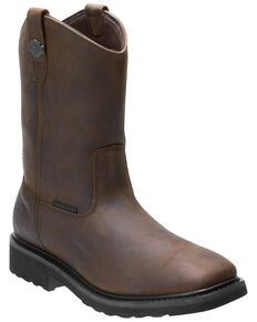 Harley Davidson Men's Altman Waterproof Western Work Boots - Soft Toe, Brown, hi-res