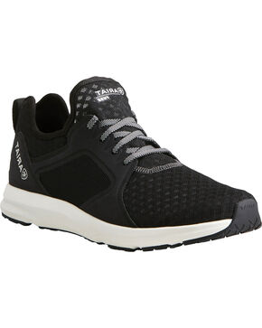 Ariat Men's Fuse Black Mesh Shoes, Black, hi-res