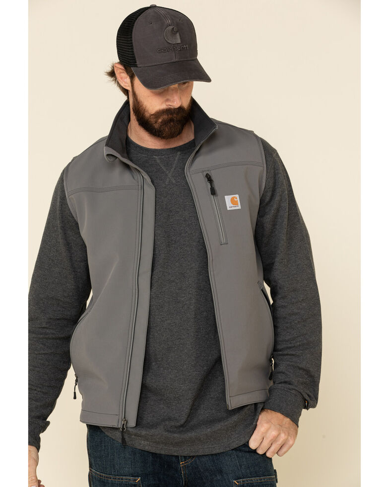 Carhartt Men's Denwood Work Vest - Big & Tall, Charcoal, hi-res