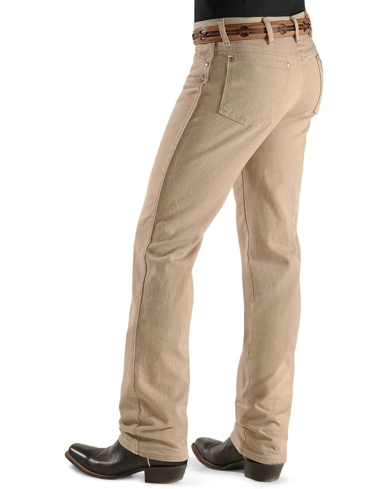 Wrangler Men's Slim Fit 936 Cowboy Cut Jeans, Tan, hi-res