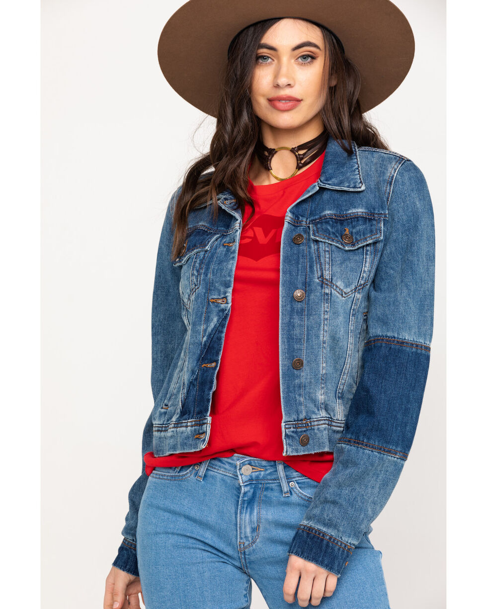 Free People Women's Rumors Denim Jacket, Blue, hi-res