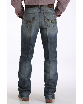 Cinch Men's Grant Relaxed Fit Dark Stonewash Jeans - Boot Cut, Indigo, hi-res