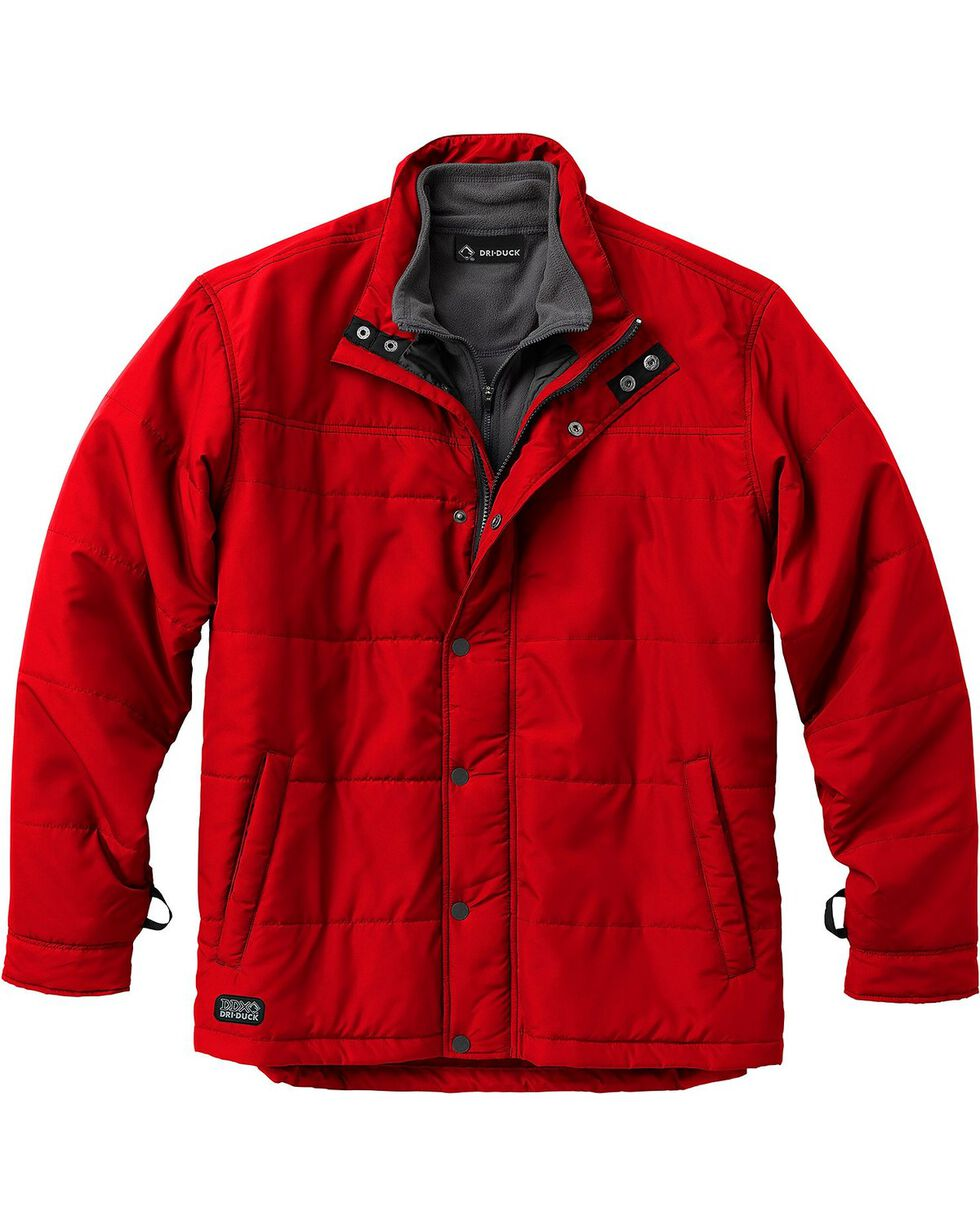 Dri Duck Men's Traverse Polyester Jacket, Red, hi-res