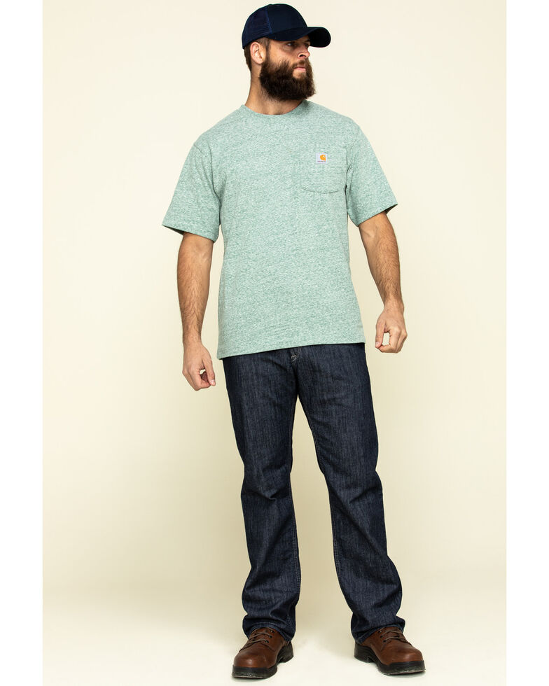 Carhartt Men's Heather Green Workwear Pocket Short Sleeve Work T-Shirt, Heather Green, hi-res