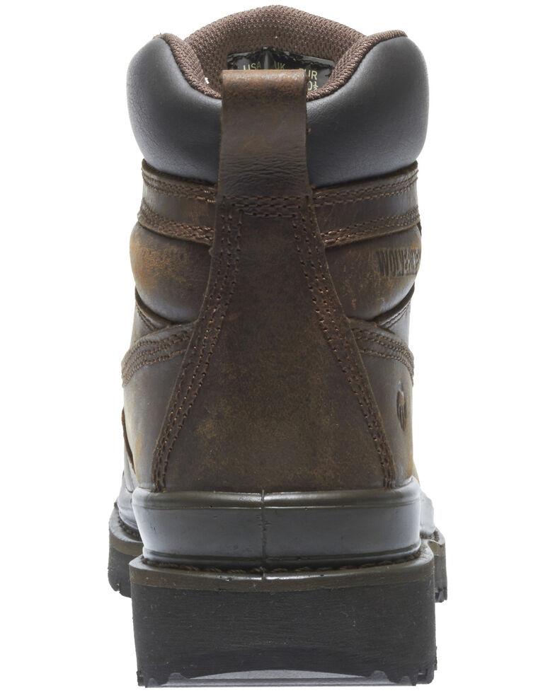 Wolverine Men's Crawford Waterproof Work Boots - Steel Toe, Brown, hi-res