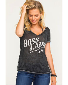 Idyllwind Women's Boss Lady Trustie Tee , Charcoal, hi-res